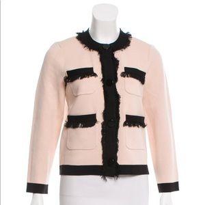 Kate Spade pale pink sweater jacket